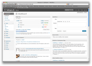 admin panel screenshot
